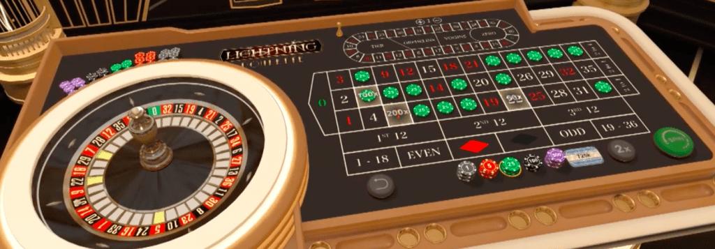 LIghtning Roulette - Evolution table