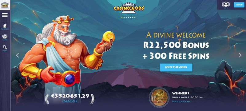 CAsinoGods Bonus South Africa