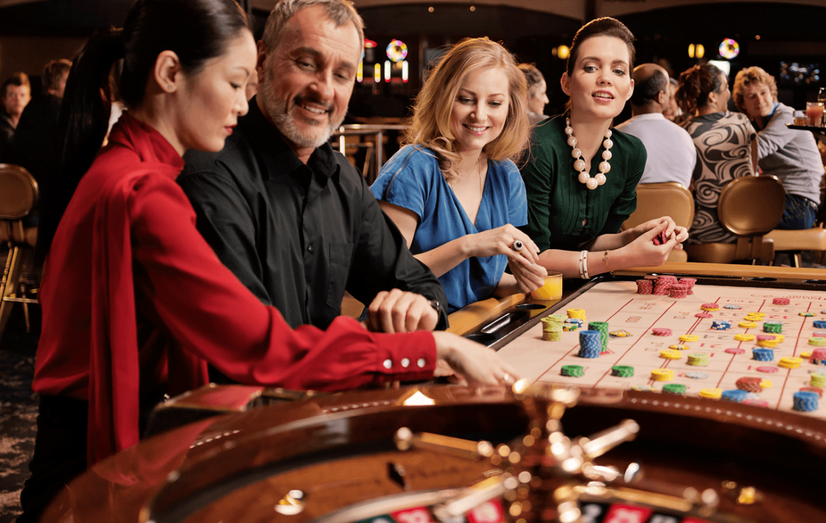 group of people playing roulette